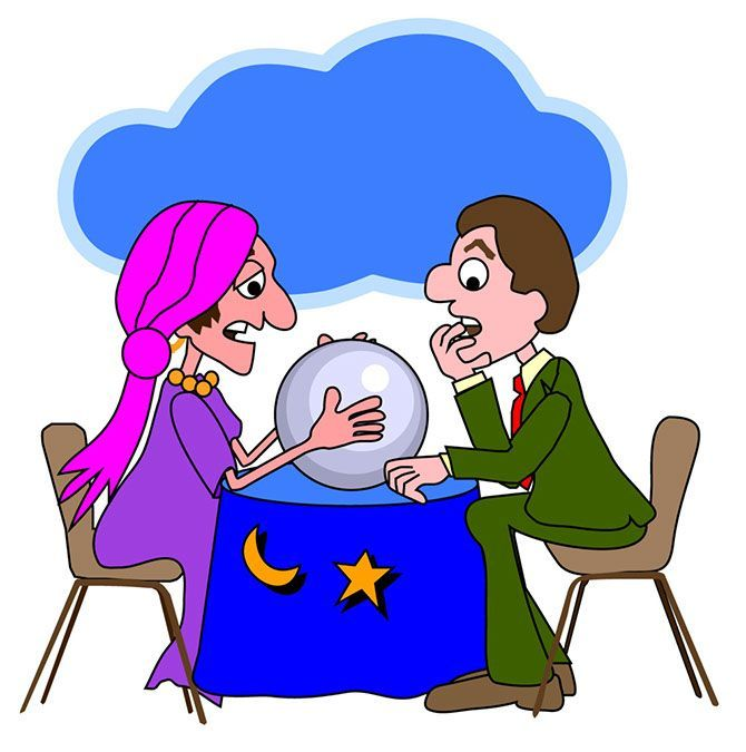 Fortune telling clipart. Teller mystical images caricature