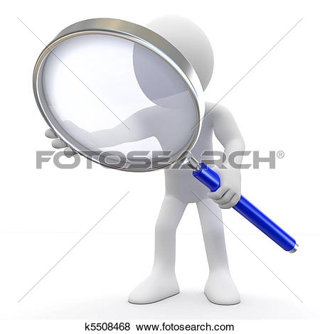 Foto search clip art image black and white Clip Art of Magnifying glass k4663077 - Search Clipart ... image black and white