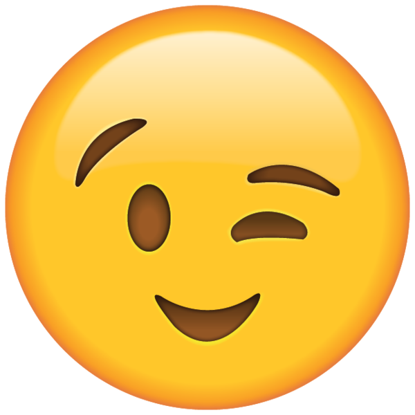 Wink emoticon clipart