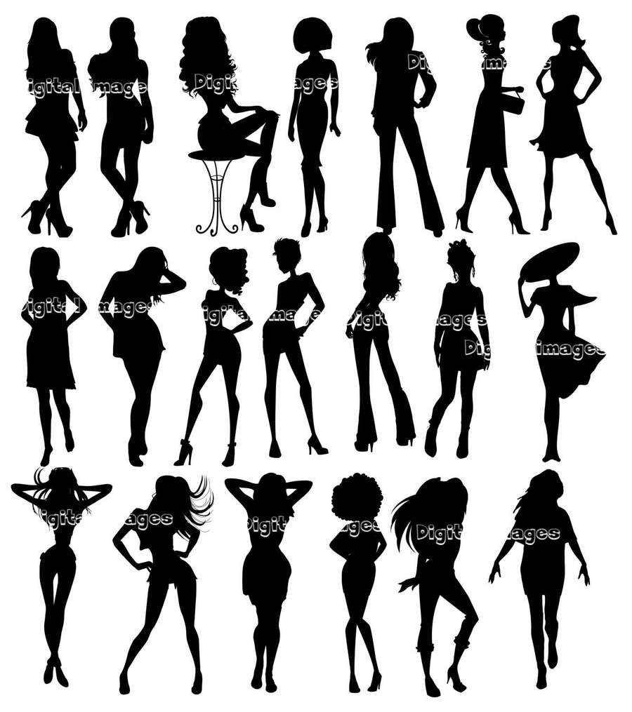 Fotos de mujeres clipart vector stock Download imagenes de siluetas de mujeres clipart Silhouette ... vector stock