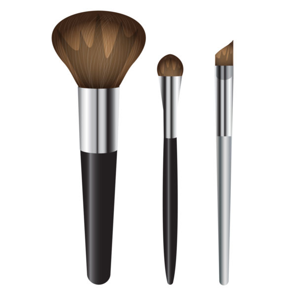 Foundation brush clipart clipart black and white Clip art of professional makeup brush - stock photo free clipart black and white