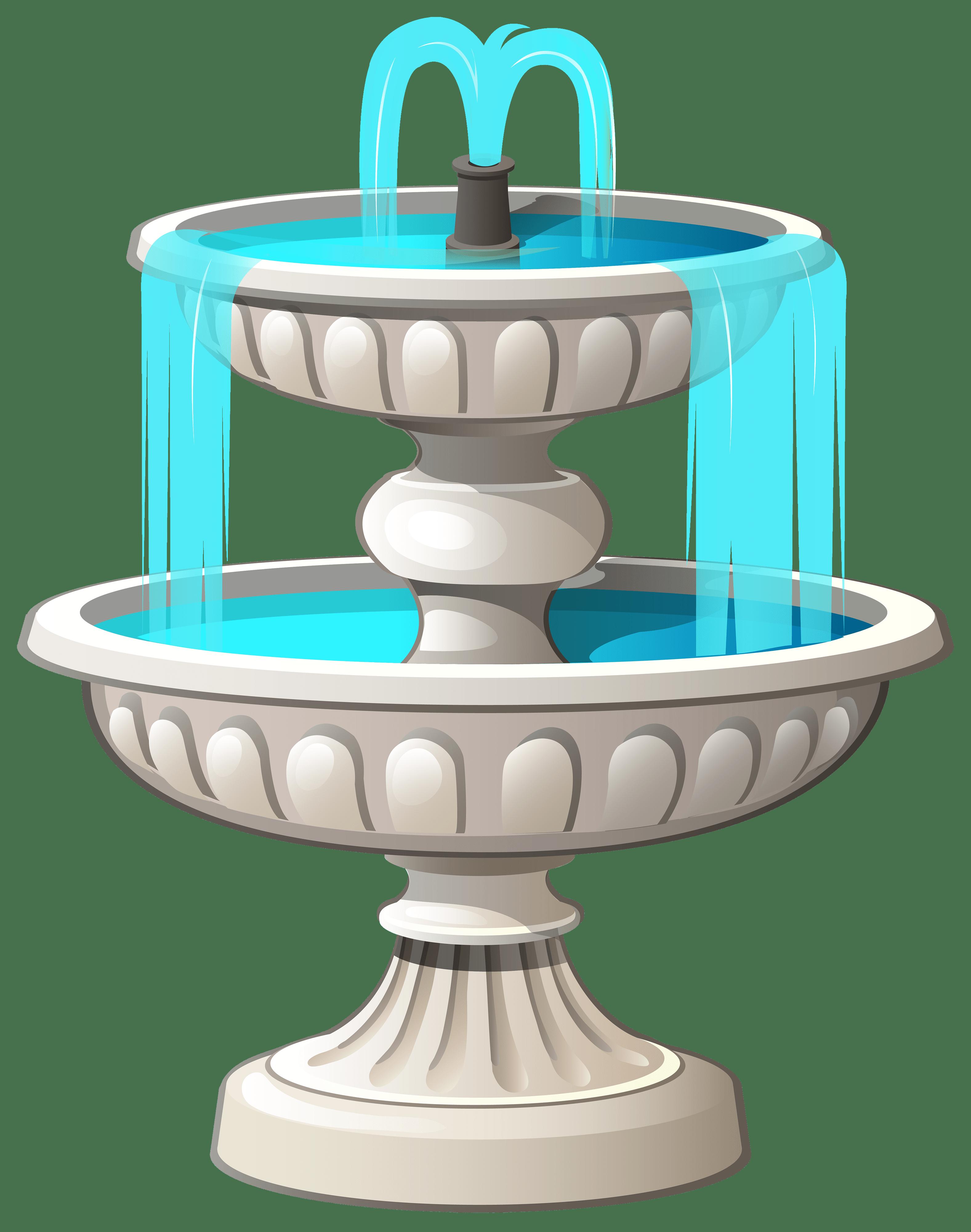 Fountain clipart plan.  transparent background dundjinni