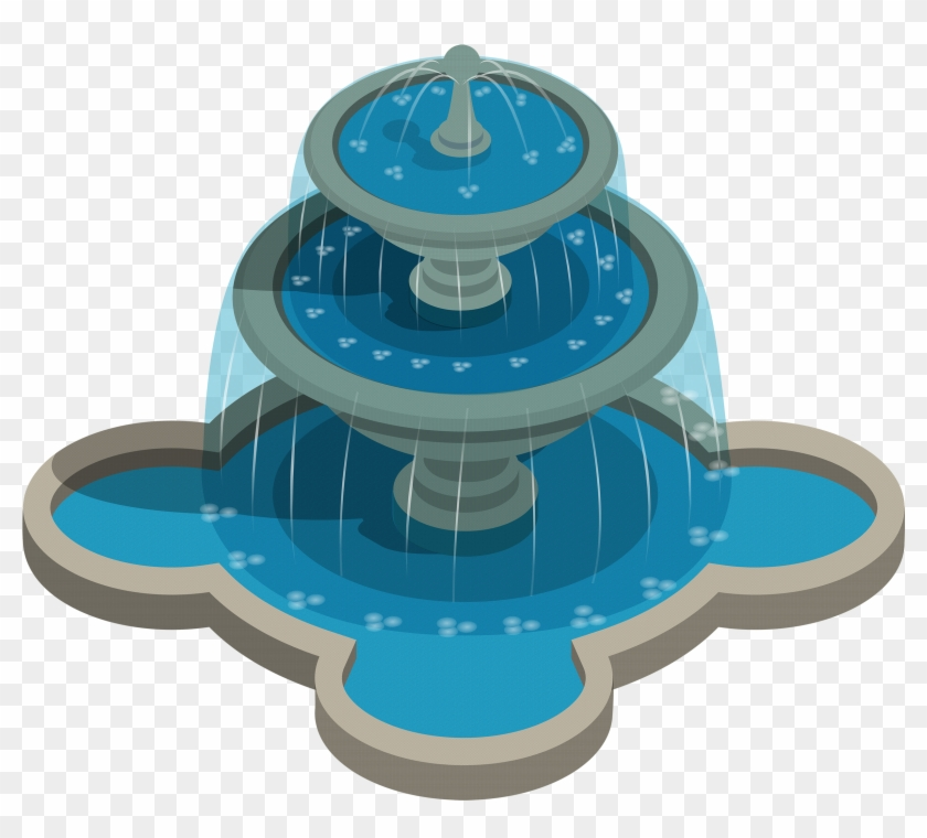 Water png transparent . Fountain clipart plan