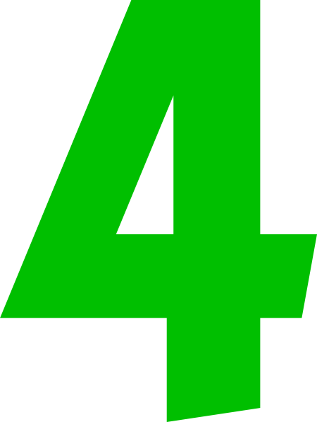 number clipartlook. Four clipart