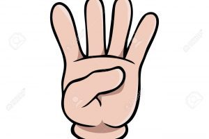 Four fingers clipart jpg library download Human cartoon hand showing four fingers » Clipart Portal jpg library download