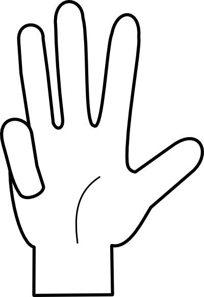 Four fingers clipart jpg freeuse library Finger Cliparts - Cliparts Zone jpg freeuse library