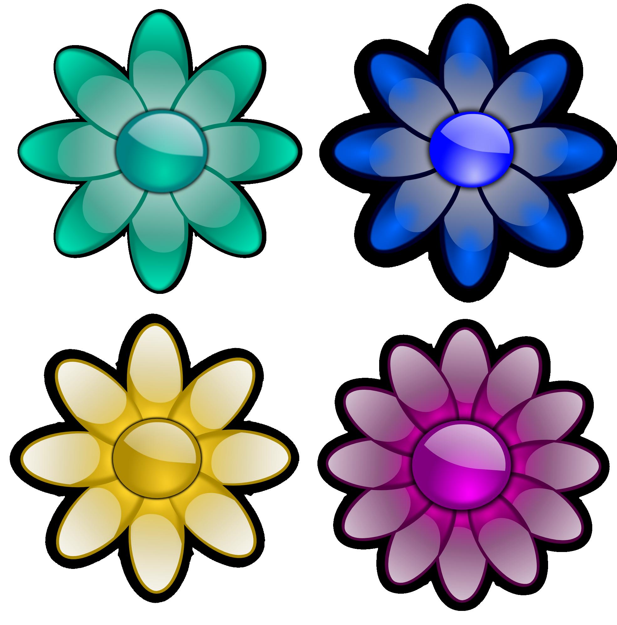 Four petal flower clipart image transparent download clipartist.net » Clip Art » four flowesr flora flower SVG image transparent download