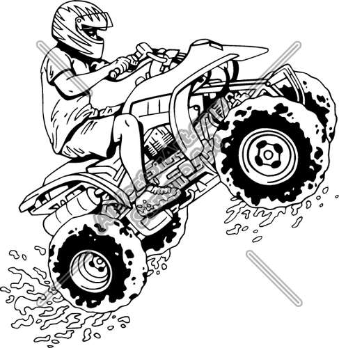 Four wheel clipart graphic black and white stock Coloring Four Wheelers Clip Art | crafts | Four wheelers, Clip art ... graphic black and white stock