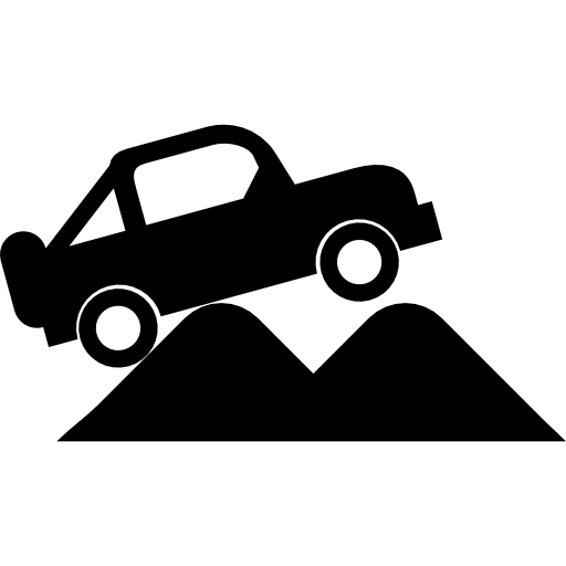 Car computer icons jeep. Four wheel drive clipart