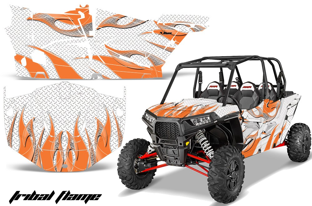 Four wheeler with flames clipart.  clip art library