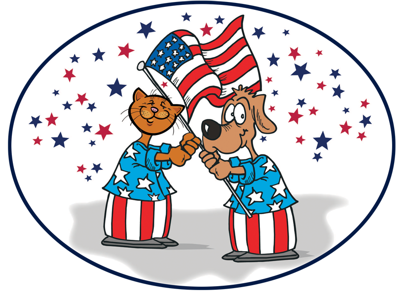 Fourth of july dog clipart picture Happy Fourth of July! — Sean Casey Animal Rescue picture