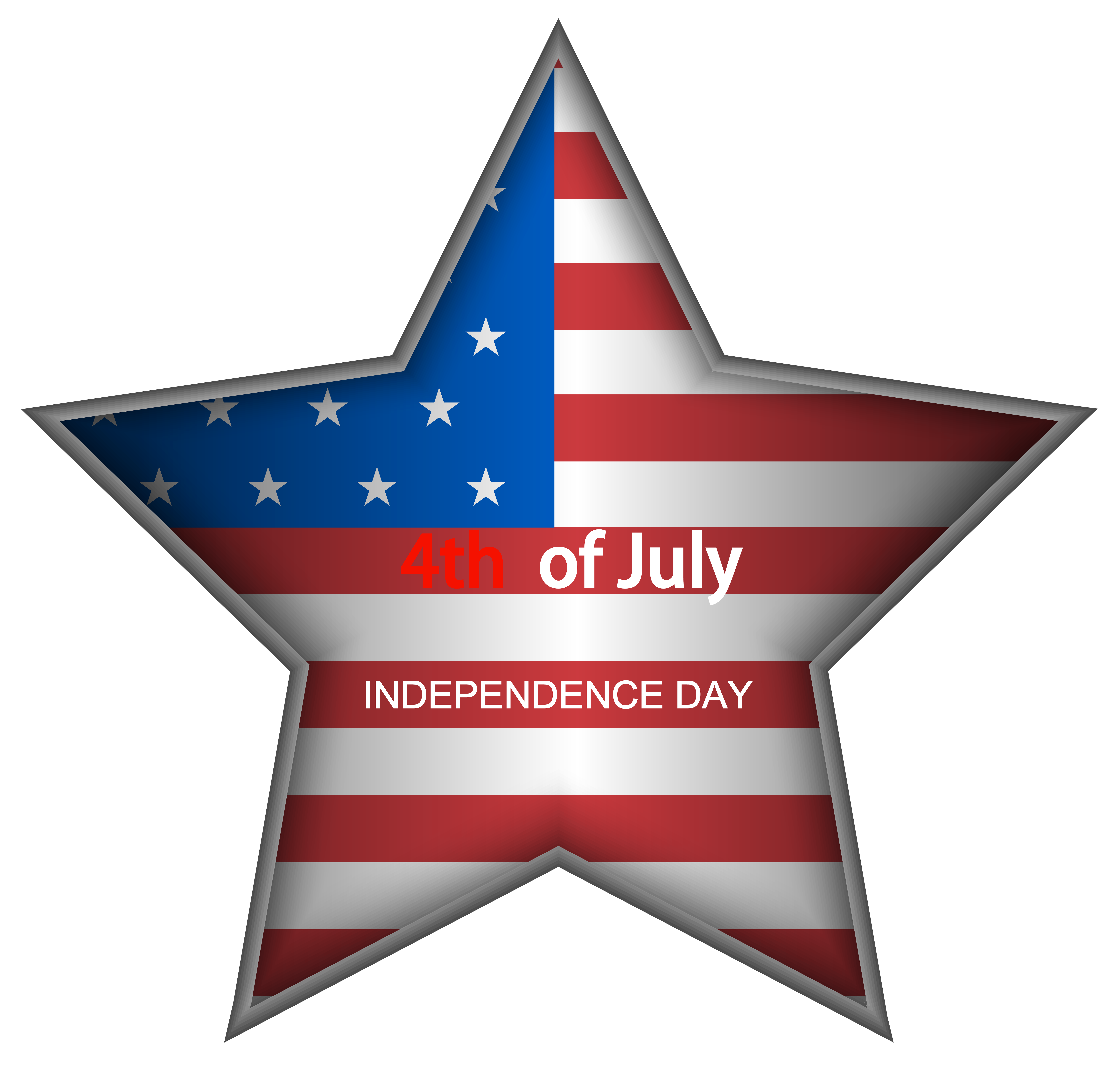 Star spangled banner clipart image freeuse USA Independence Day Star PNG Clip Art Image | Gallery Yopriceville ... image freeuse
