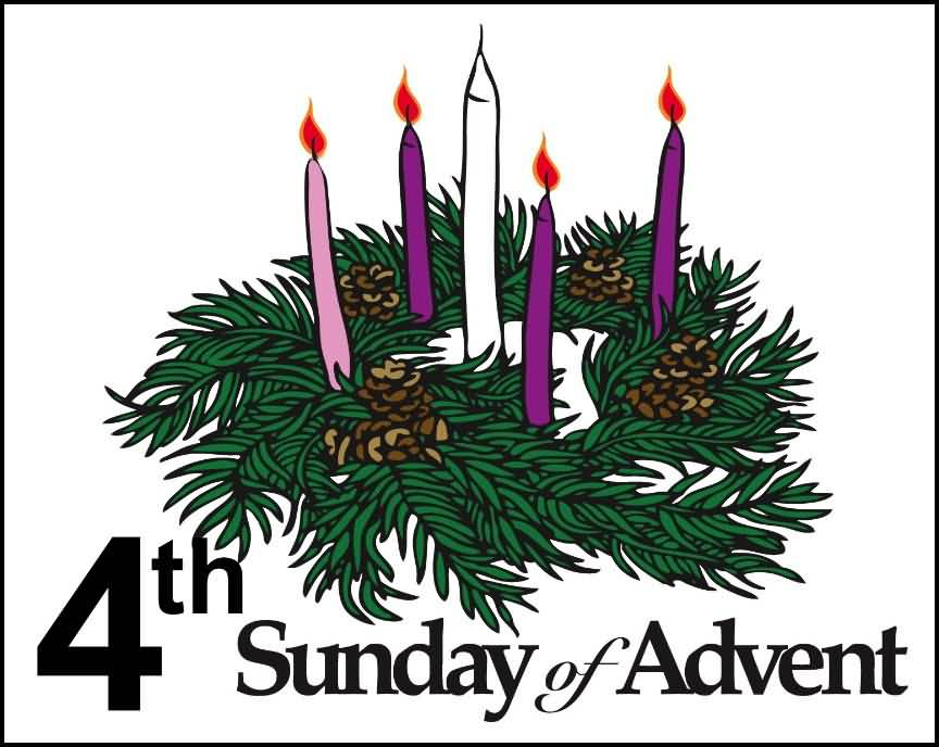Fourth sunday of advent wreath clipart free svg royalty free library 4th Sunday Of Advent Candles And Palm Leaves Clipart svg royalty free library