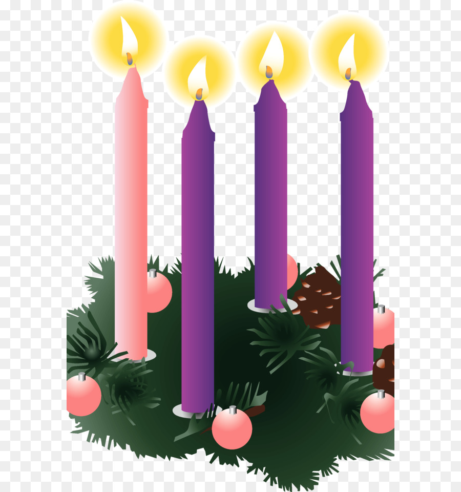 Fourth sunday of advent wreath clipart free picture black and white stock Christmas Decoration Cartoon png download - 640*960 - Free ... picture black and white stock