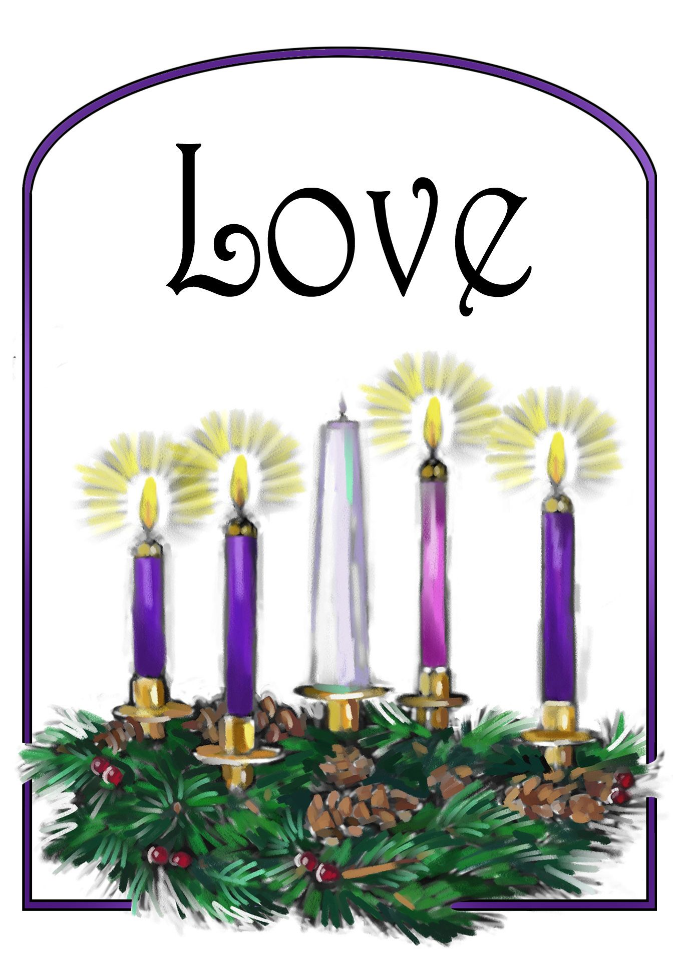 Fourth sunday of advent wreath clipart free graphic library library 4th week of advent catholic - Google Search | CHRISTmas | Advent ... graphic library library