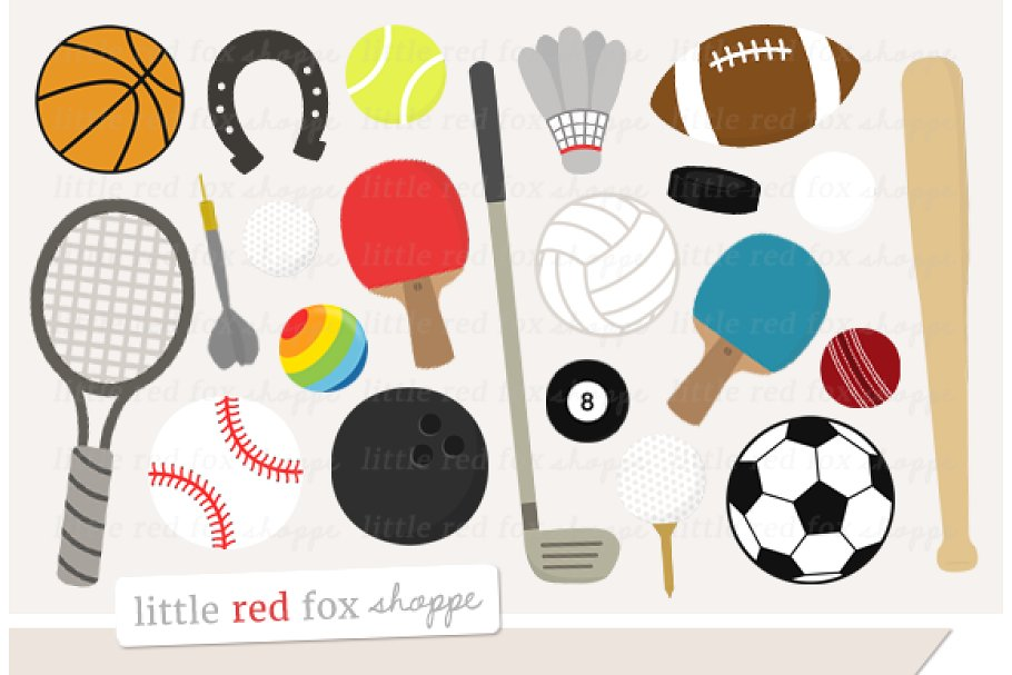 Fox sports clipart banner free Sports Gear Clipart Graphics banner free