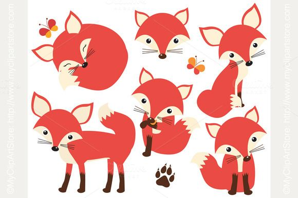 Foxy clipart svg black and white library Check out So Foxy! (Fox / Vixen Clipart) by MyClipArtStore on ... svg black and white library