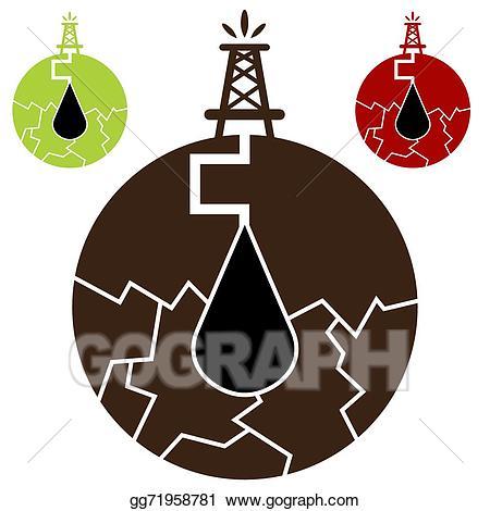 Fracking clipart banner free download Vector Illustration - Fracking oil icon. EPS Clipart gg71958781 ... banner free download