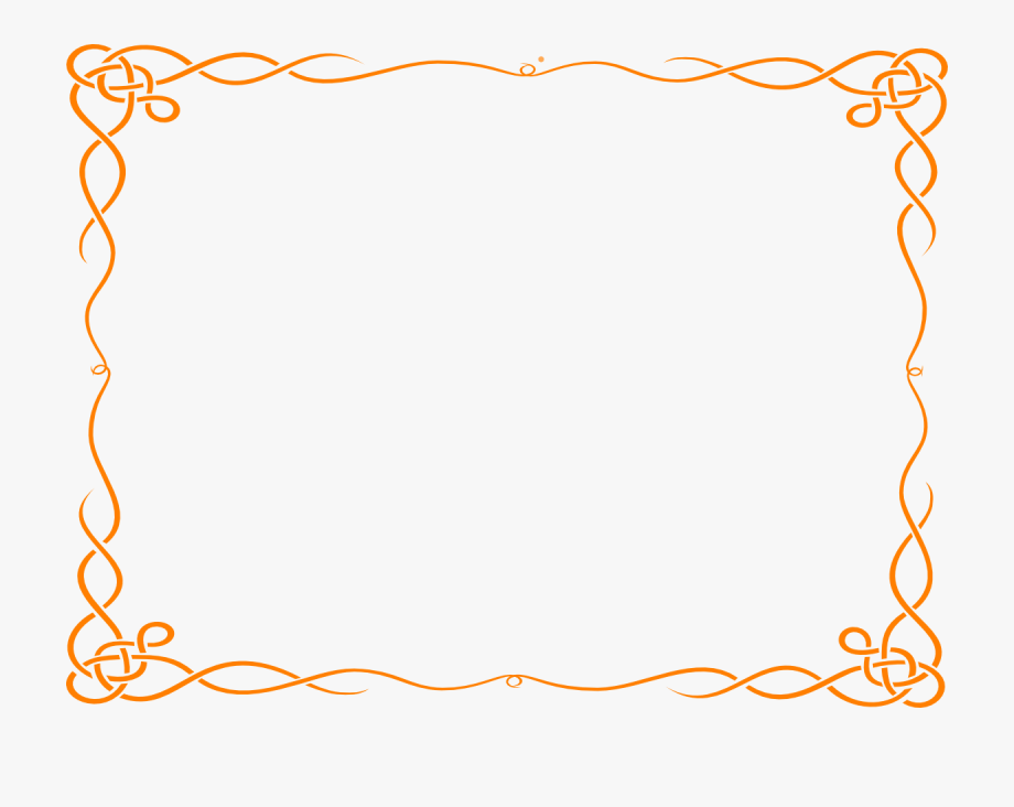Frame borders clipart graphic royalty free Decorative Borders Clip Art - Frame Border Png #999316 - Free ... graphic royalty free