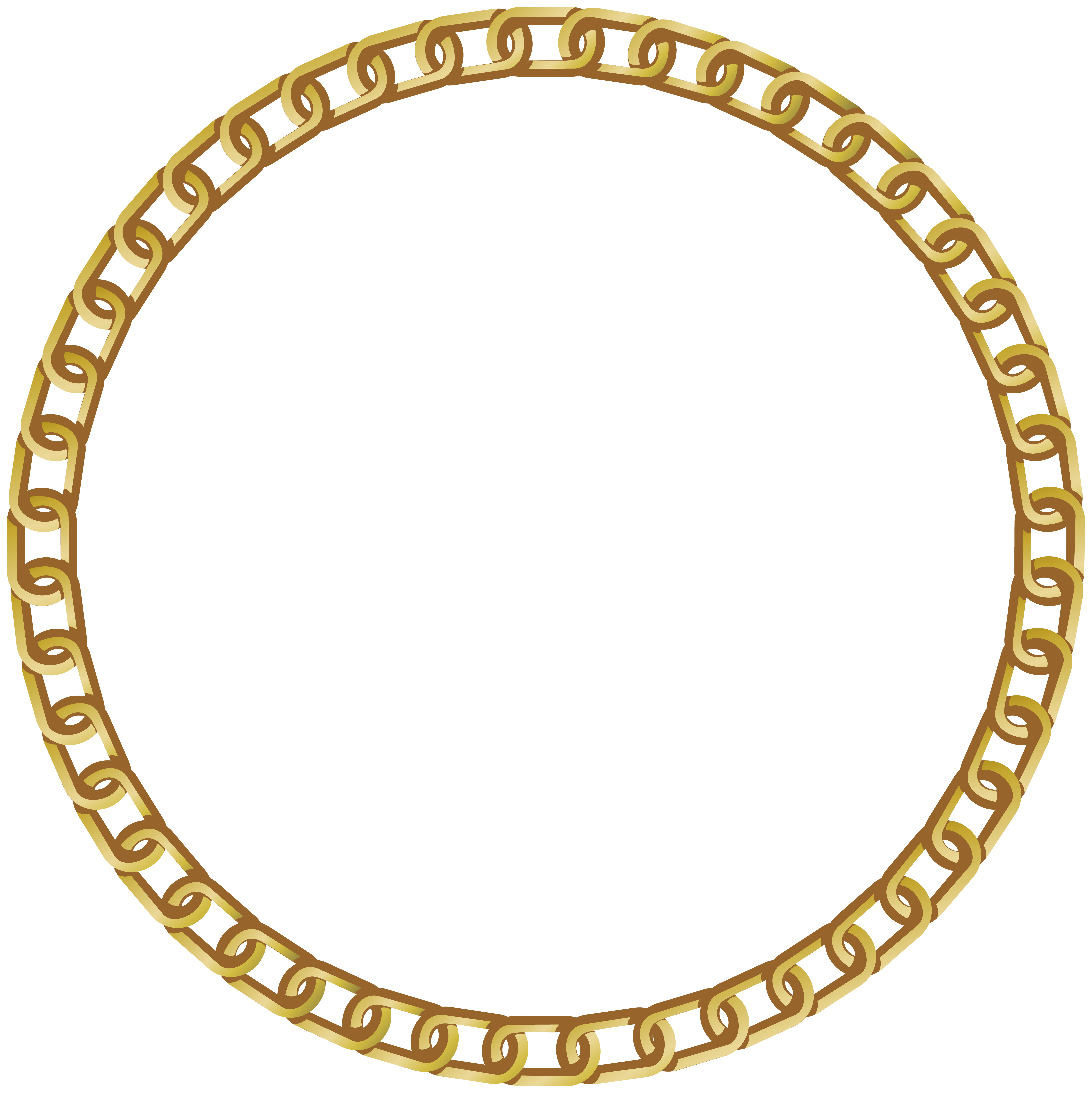 Frame circle clipart. Round gold transparent png