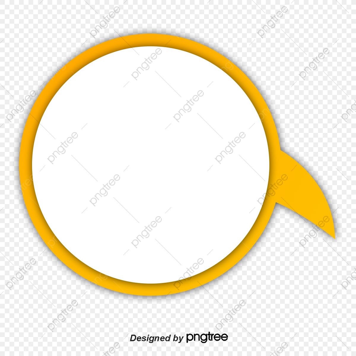 Frame circle clipart. Yellow png