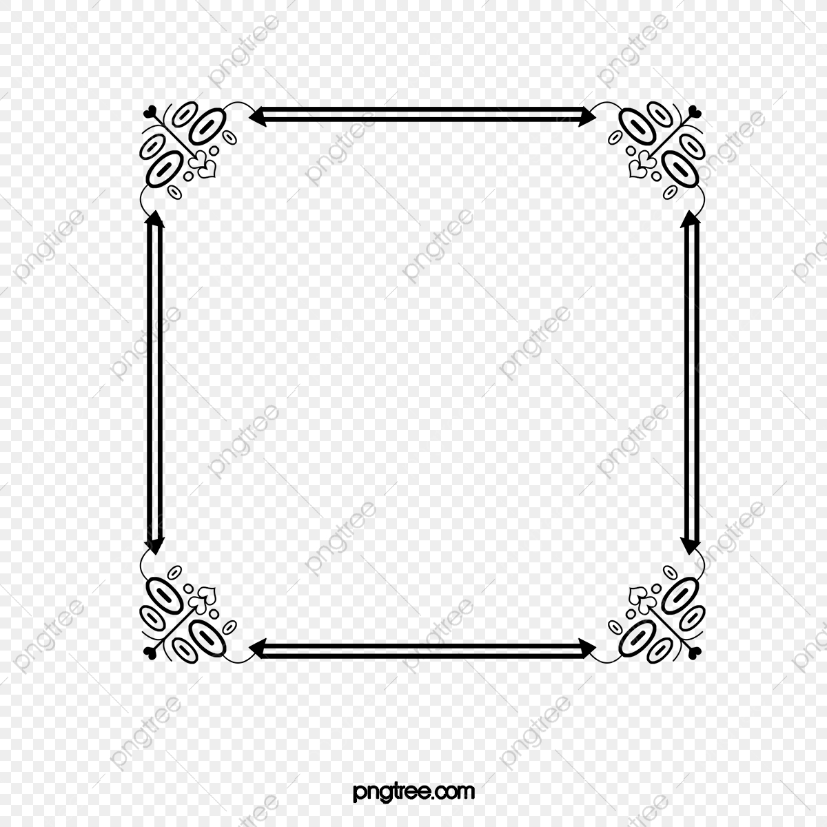 Frame clipart black and white. Pattern photo border png