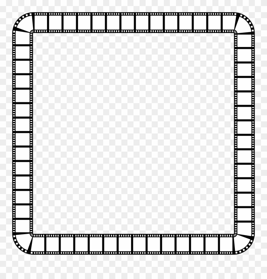 Film strip square . Frame clipart black and white