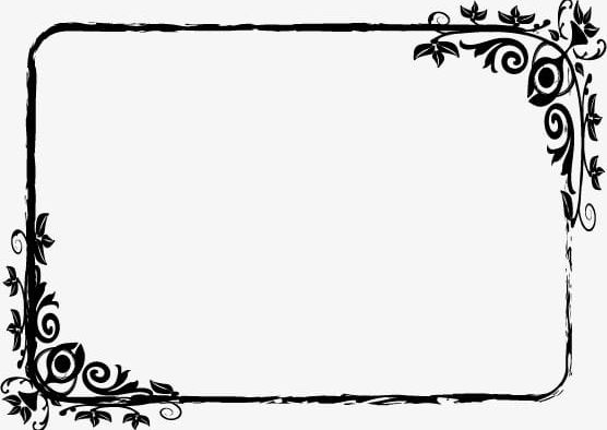 Frame clipart black and white. Pattern png
