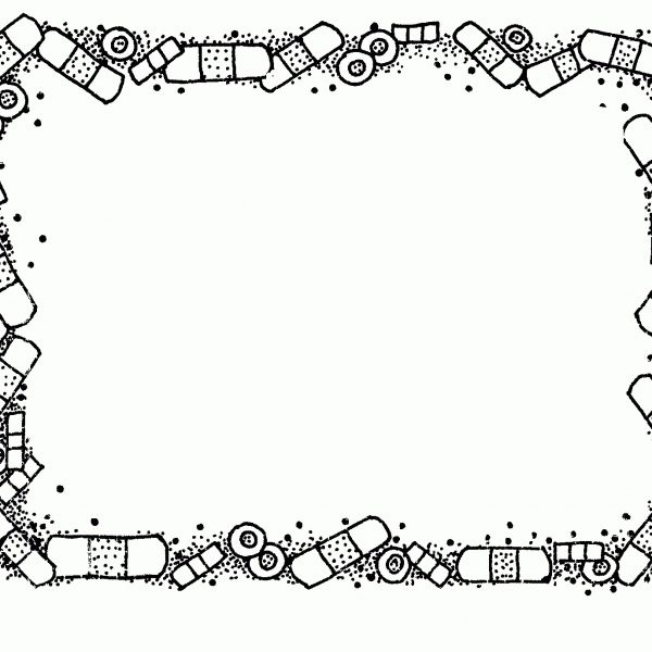 Frame clipart for kids black and white svg black and white Mormon Share } Border – Bandaids | Teachedy | Pinterest | Clip Art ... svg black and white