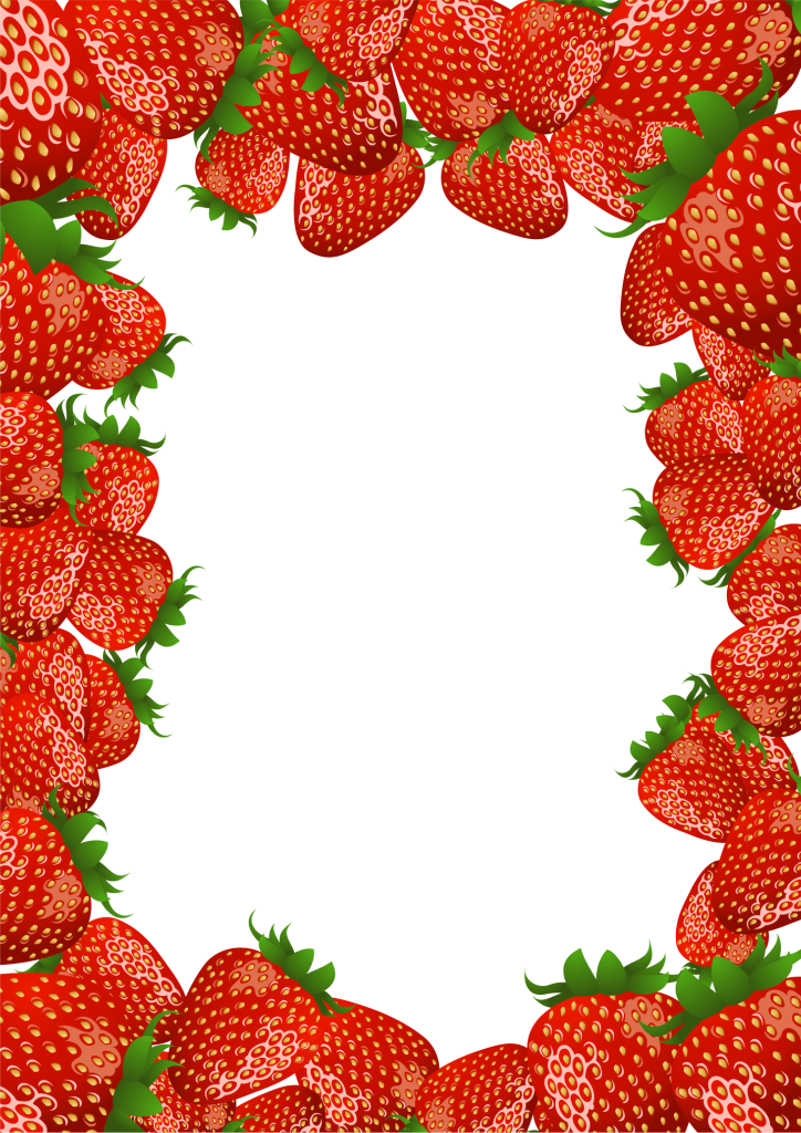 Frame clipart house picture on it banner library stock Transparent PNG Frame with Strawberries | Gallery Yopriceville ... banner library stock