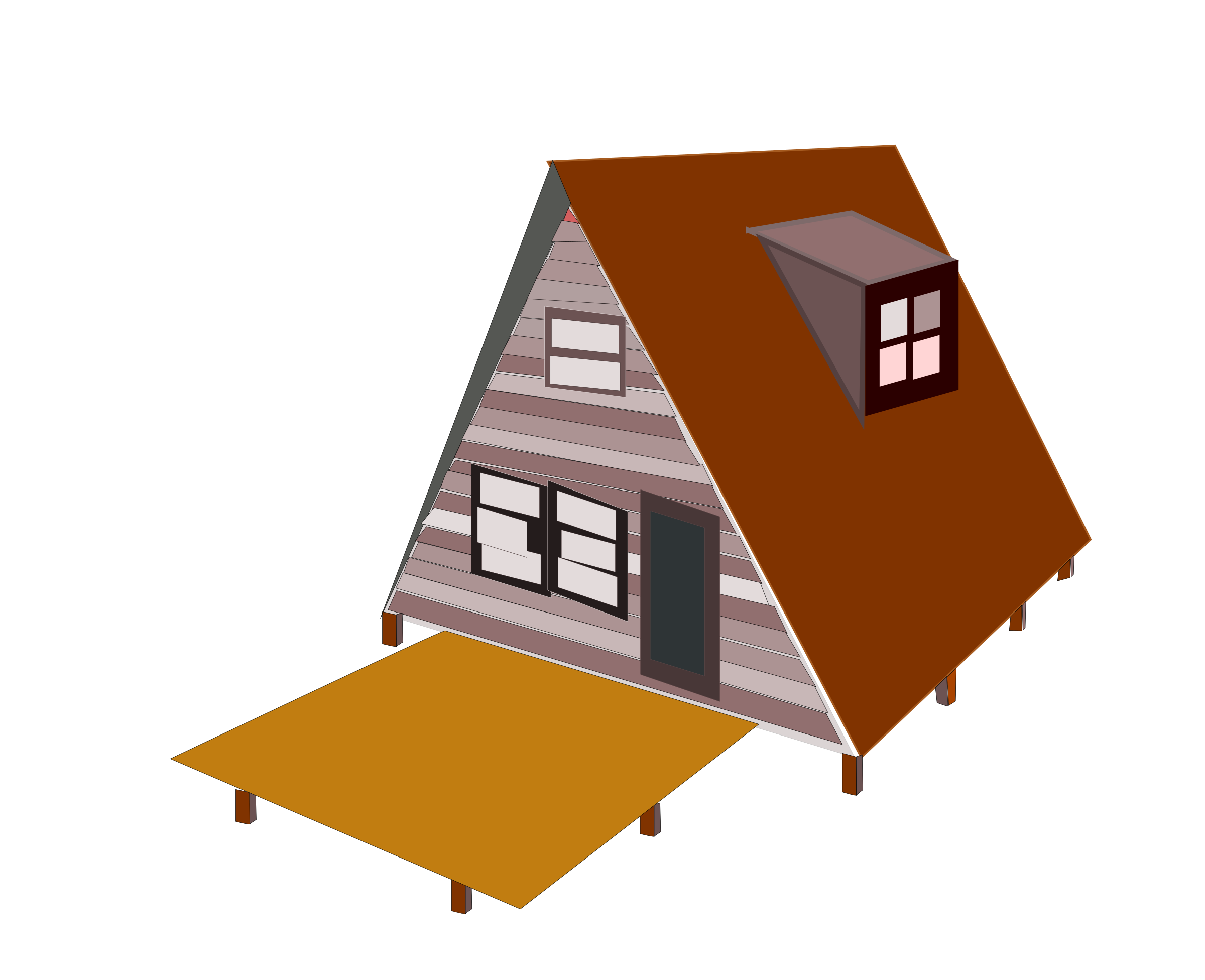 Frame house clipart image royalty free stock A-Frame-house Icons PNG - Free PNG and Icons Downloads image royalty free stock