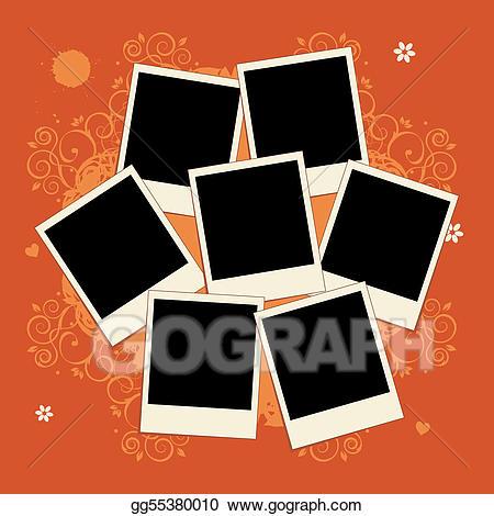 Vector stock of photos. Frame collage clipart