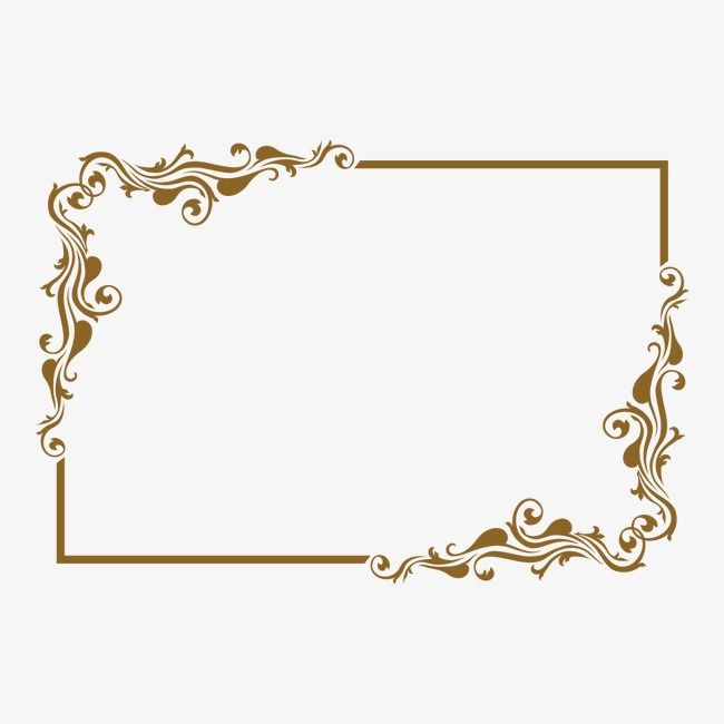 Frame decoration clipart picture transparent Classical Pattern, Retro Borders, Gold Frame, Decoration PNG ... picture transparent