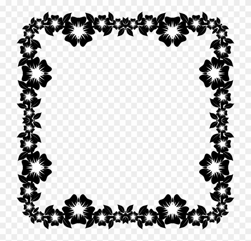 Frame decoration clipart clip black and white download Borders And Frames Decorative Borders Picture Frames - Frames Black ... clip black and white download