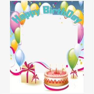Frame happy birthday clipart black and white library Candle Clipart Frame - Happy Birthday Frame Download , Transparent ... black and white library