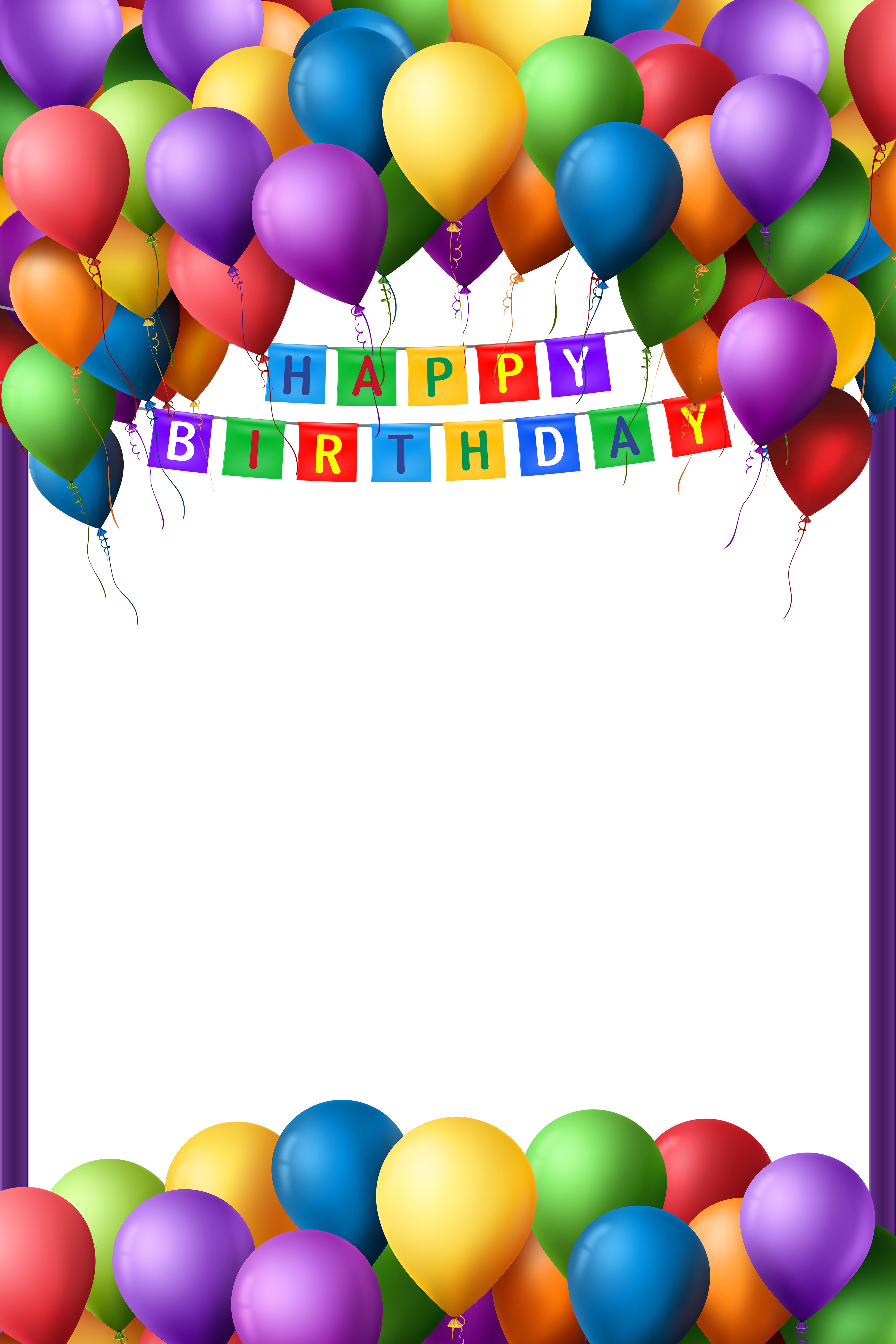library of frame happy birthday vector transparent png