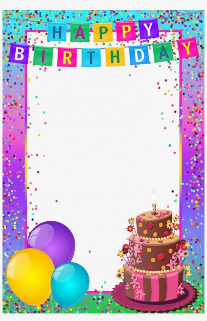 Happy birthday clipart frame clip art freeuse library Happy Birthday Frame Happy Birthday Images Birthday Transparent ... clip art freeuse library