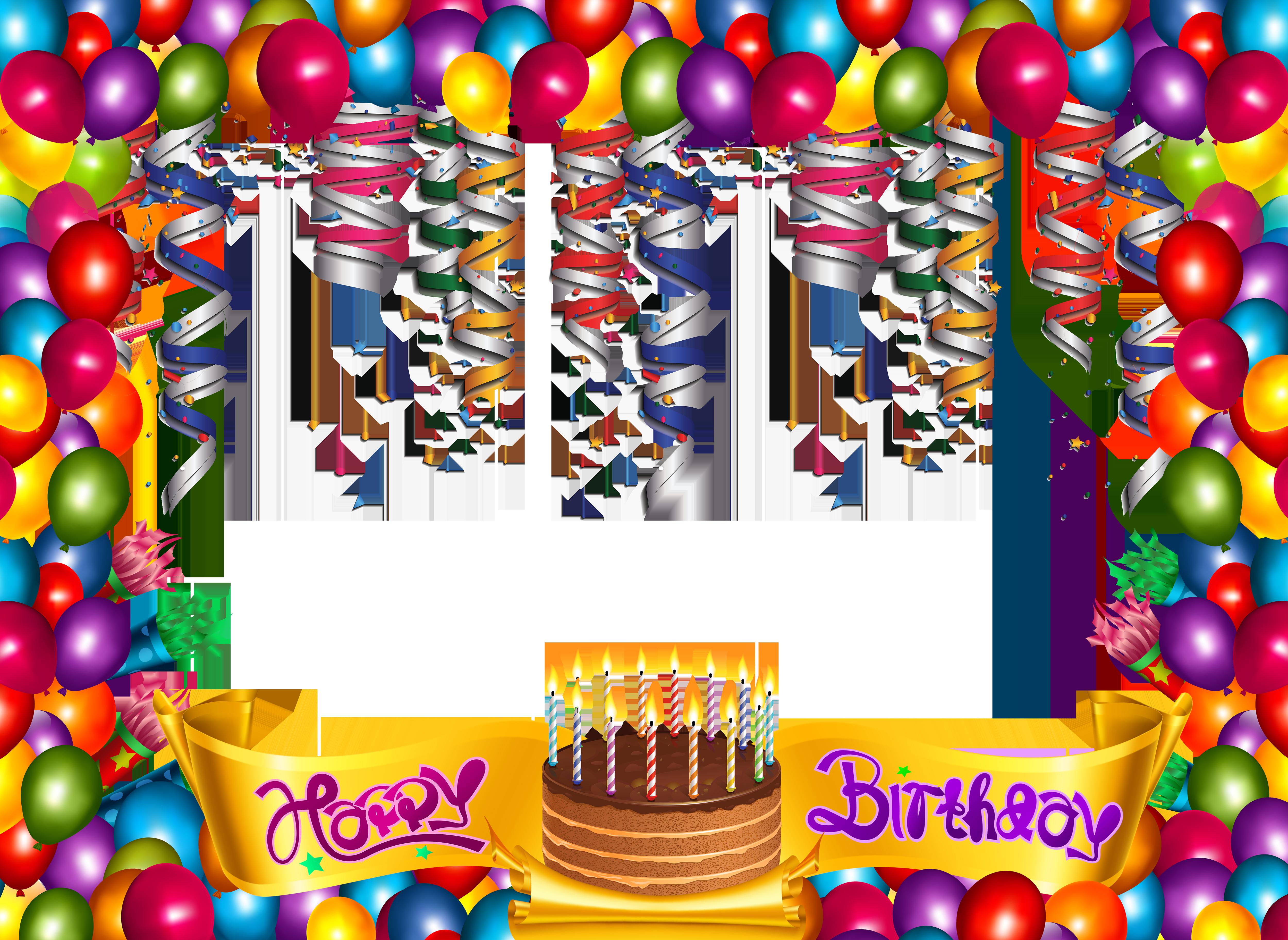 Frame happy birthday clipart svg royalty free stock Cute Happy Birthday Frame   Gallery Yopriceville - High-Quality ... svg royalty free stock