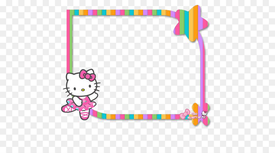 Frame hello kitty clipart. Party drawing pink text