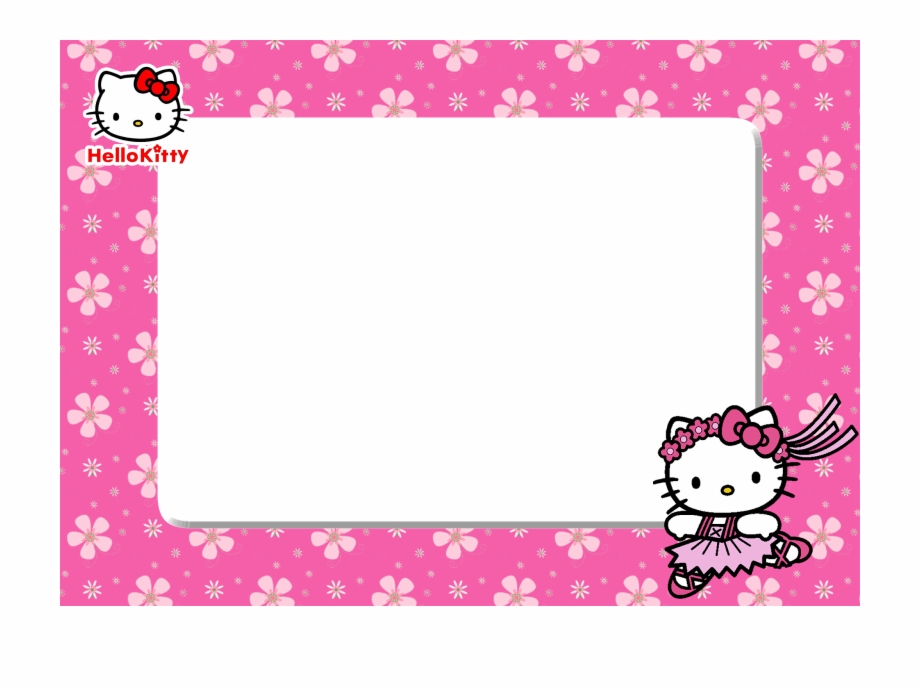 Frame hello kitty clipart. Birthday png background border