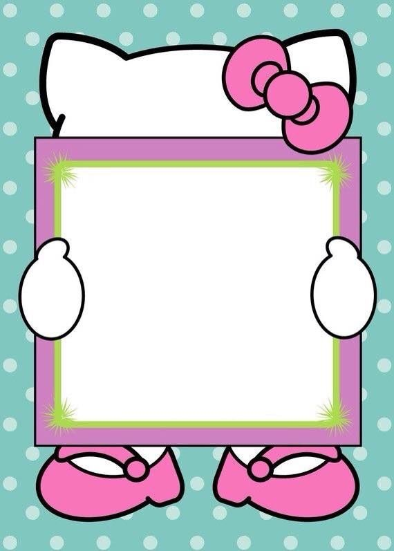Frames invitations pictures . Frame hello kitty clipart
