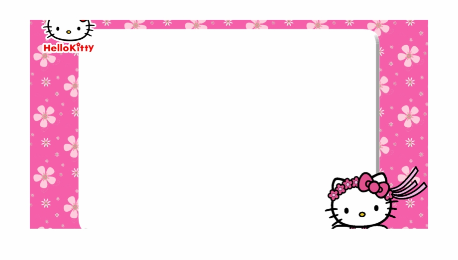Frame hello kitty clipart. Free printable pink floral