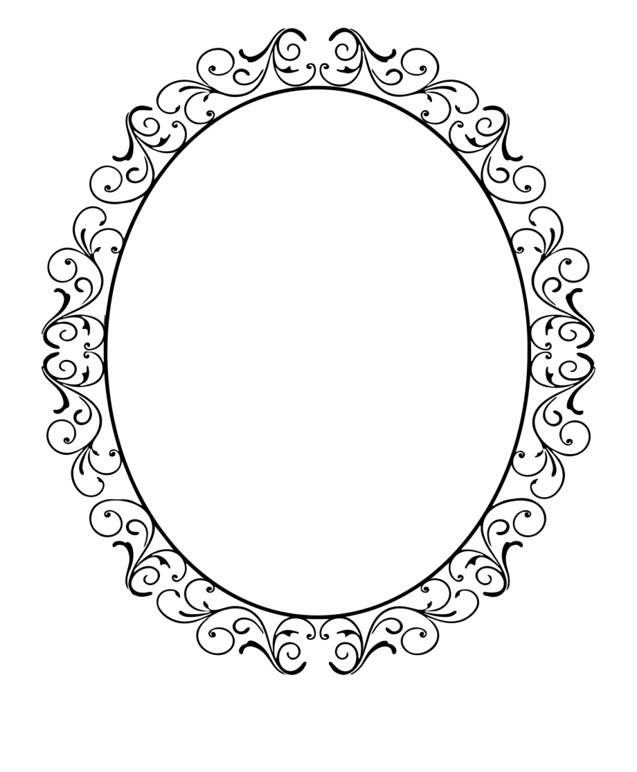 Frame oval clipart banner download Oval Clipart Swirl - Oval Flourish Frame Png Free PNG Images ... banner download