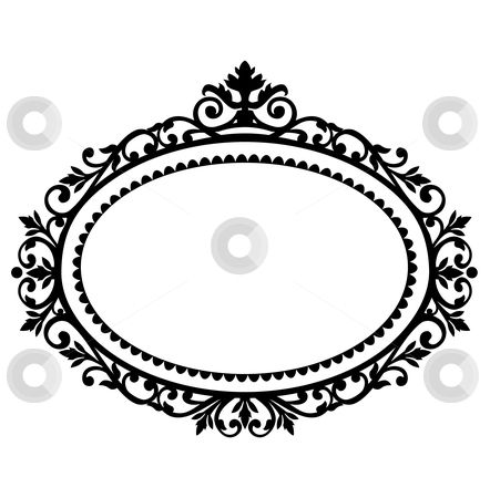 Oval photo frame clipart graphic library download free clipart oval frames | Decorative frame stock vector clipart ... graphic library download