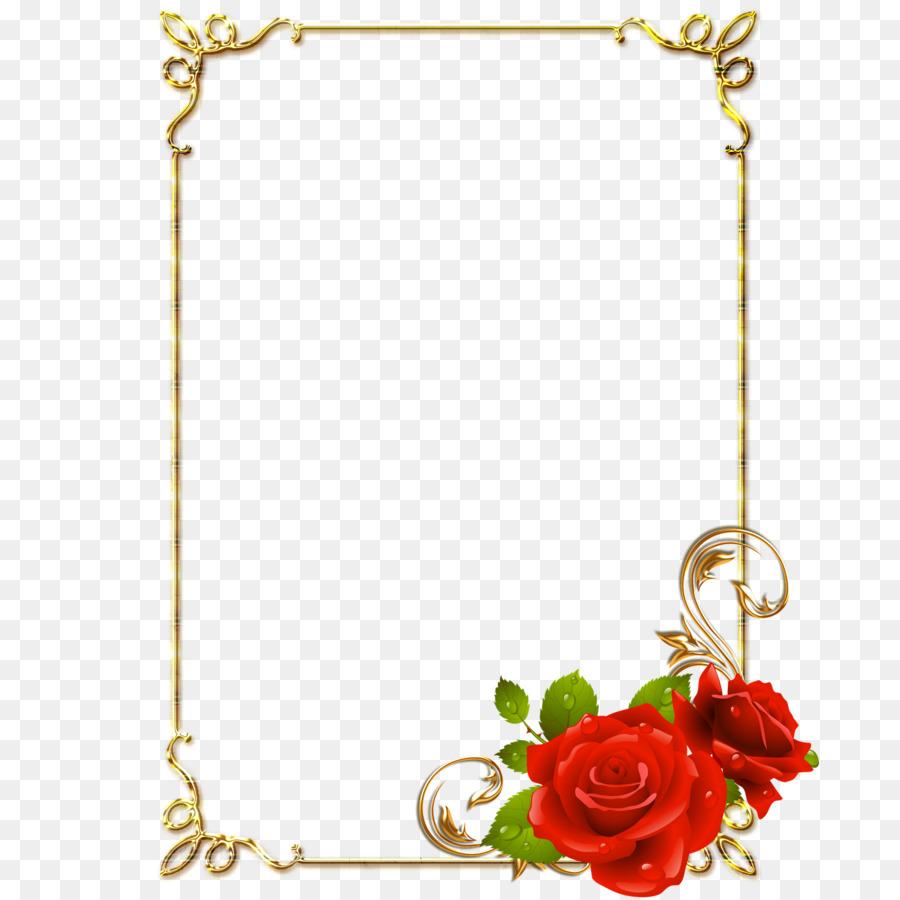 Frame rose clipart. Floral background flower transparent