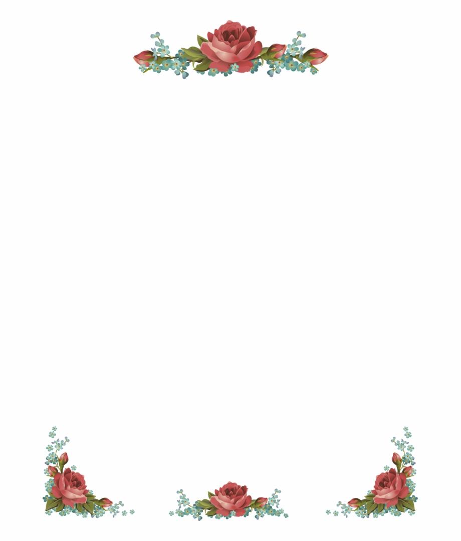 Frame rose clipart. Border clip art flower