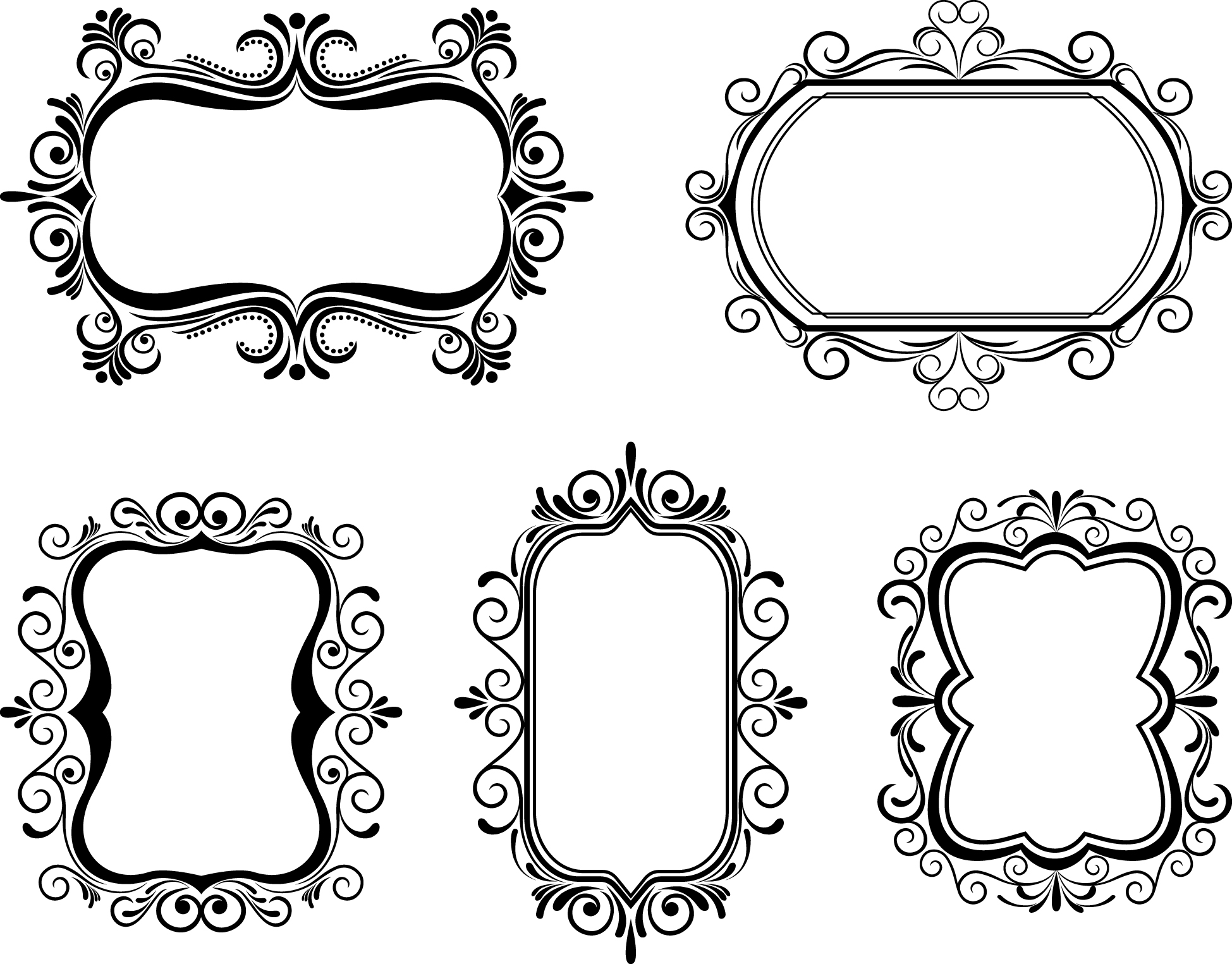 Frame vector clipart. Free borders download clip