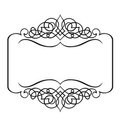 Ornate images over . Frame vector clipart