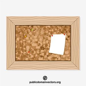 vectors. Framed cork board free public domain clipart