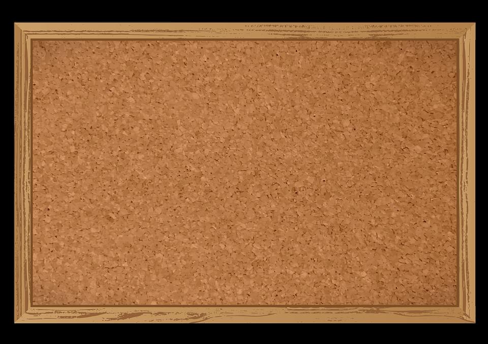 Framed cork board free public domain clipart. Bulletin beige rectangle display